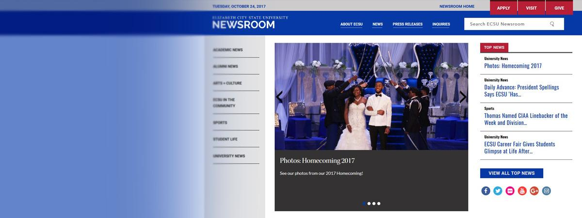 ECSU Launches Online Newsroom