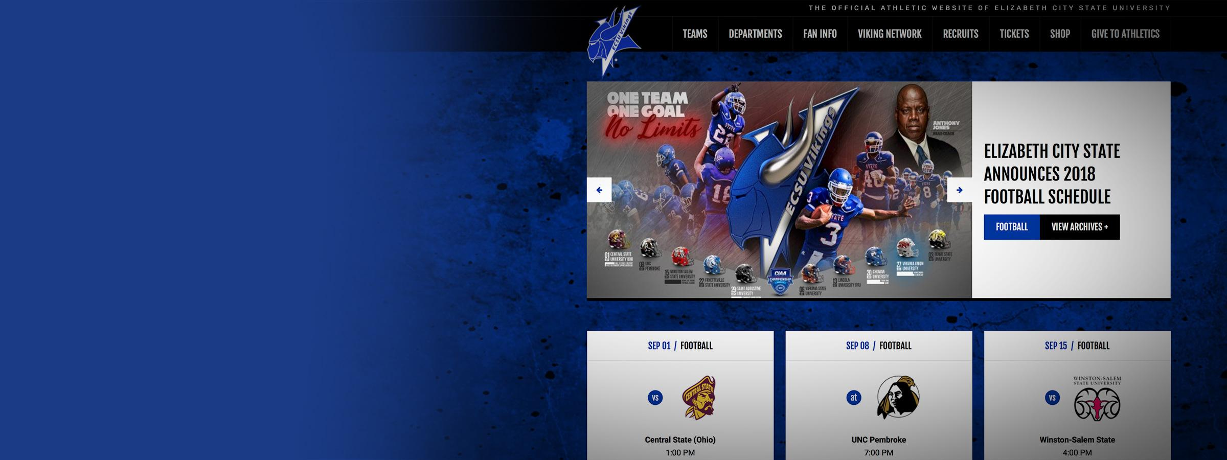 New ECSU Athletics Website