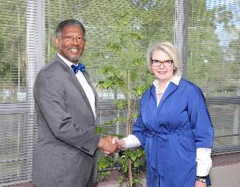 Margaret Spellings visits ECSU first time