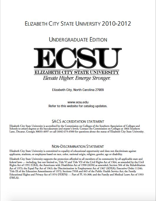 ECSU Undergrad Catalog2010-2012