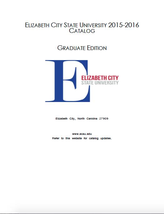 ECSU Grad Catalog 2015-2016