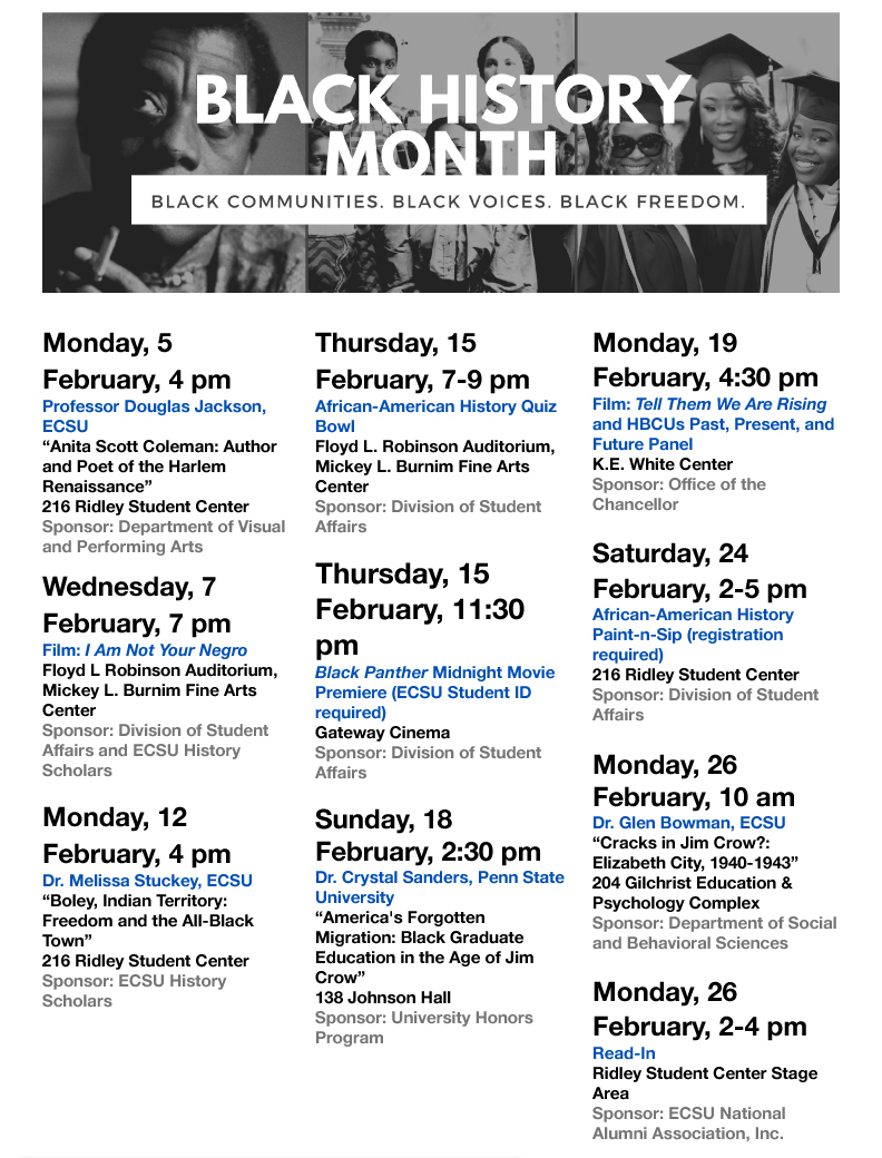 Black History Month 2018 Events