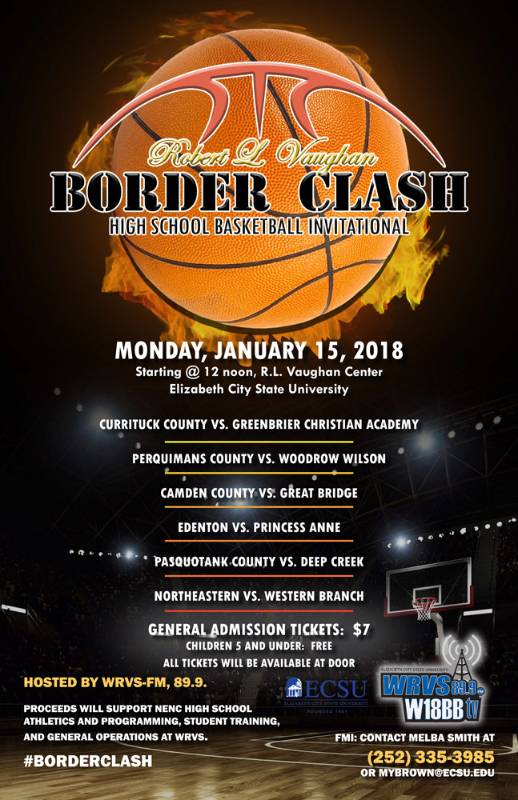 Border Clash High School Basketball Invitational Flyer