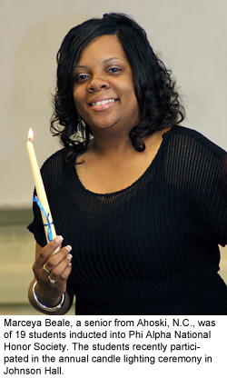 Marceya Beale, a senior from Ahoski, N.C