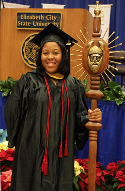 Rakea L. Joyner is the Bearer of the Mace for ECSU
