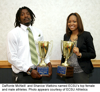 McNeill, Watkins are ECSU Athletes of the Year