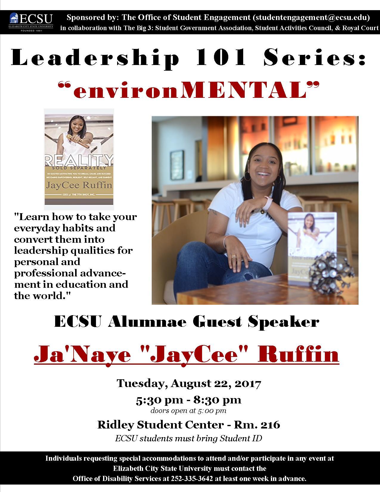 JayCee Ruffin Speaker Flier