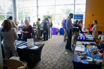 Students gather at Career Fair 2017