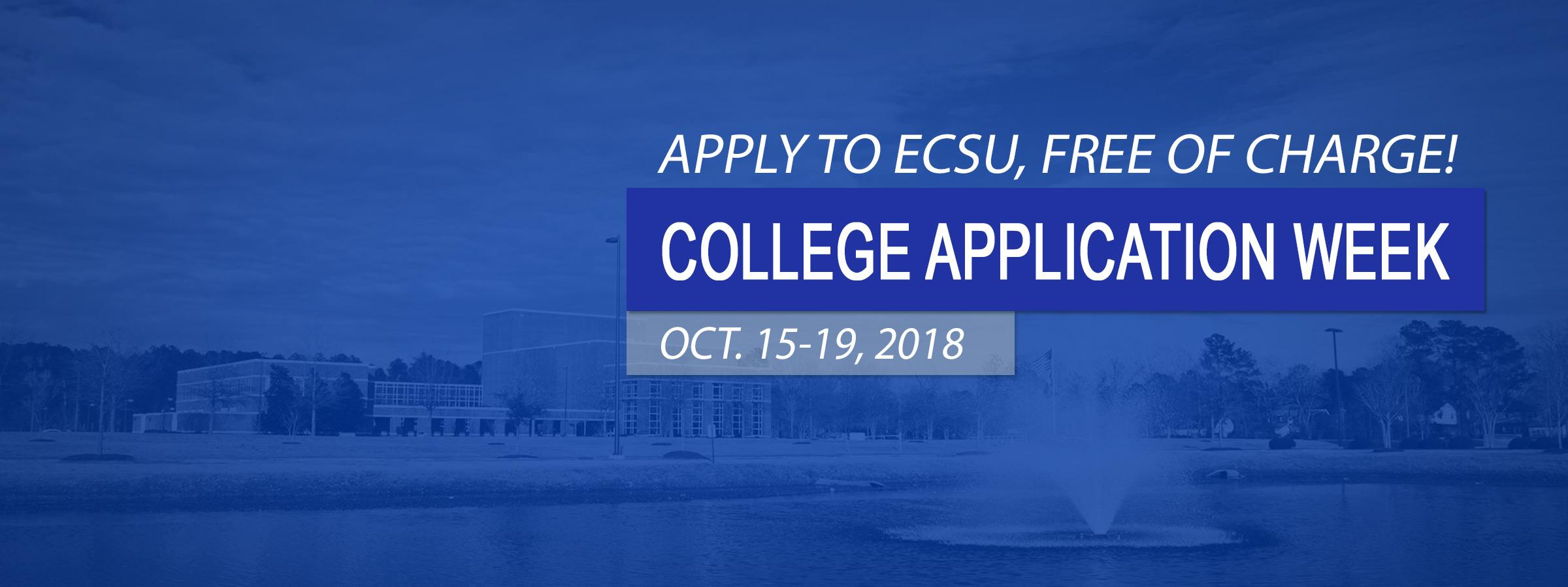 Apply to ECSU - For Free!