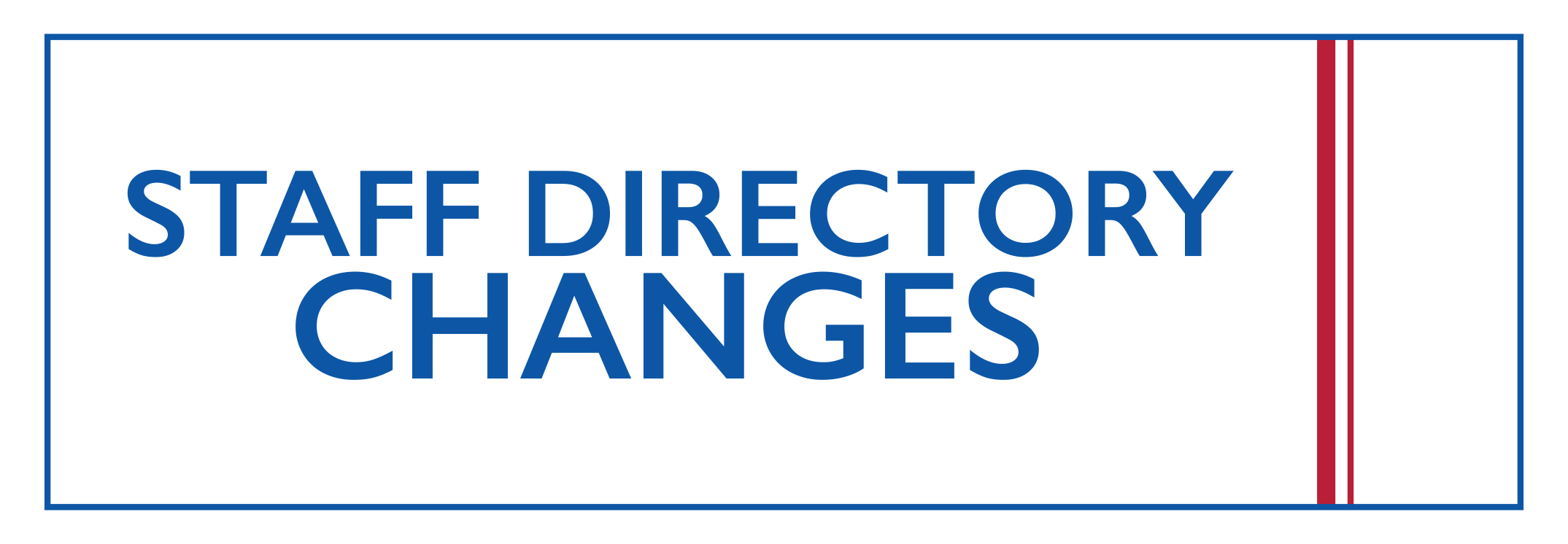 Staff Directory Changes