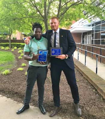 2017-2018 RA of the Year, De'Airrius Payne and 2017-2018 Rookie RA of the Year, Fisher McInville