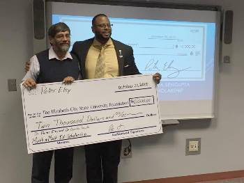 Eley donation to math scholarship fund