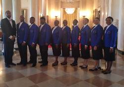Concert Choir sings at White House