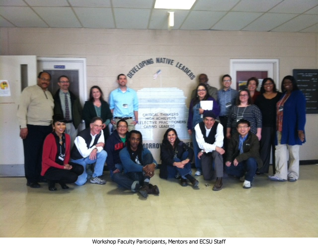 Workshop Faculty Participants, Mentors and ECSU Staff