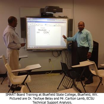 Dr. Tesfaye Belay and Carlton Lamb