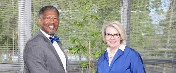 Dr. Thomas Conway and Pres. Margaret Spellings